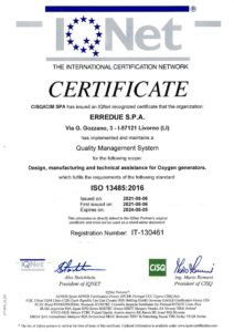 Design, manufacturing and technical assistance for Oxygen generators