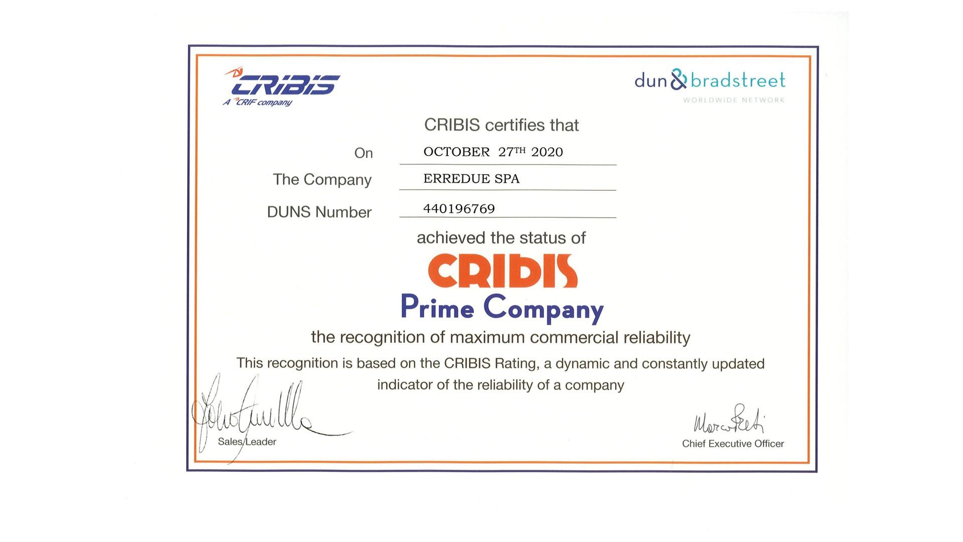 cribis-prime-company